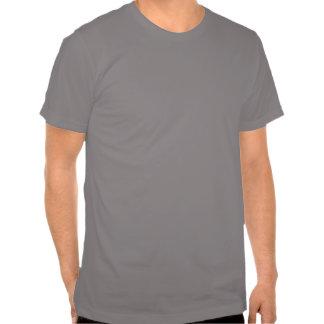 Guarde la calma y Parti en la camisa (gris/la plat