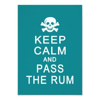 Guarde la calma y pase la tarjeta del ron, invitación
