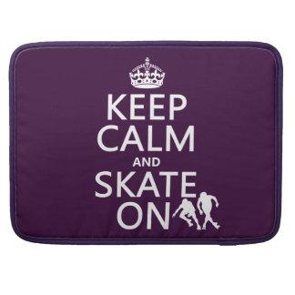 Guarde la calma y patine en rollerskates cualqu funda para macbook pro