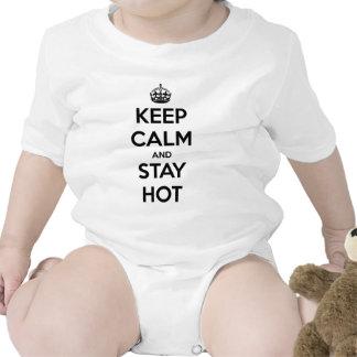 Guarde la calma y permanezca caliente camiseta
