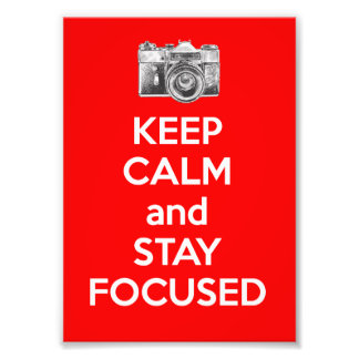 Guarde la calma y permanezca enfocado fotografias
