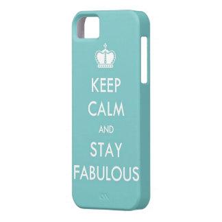 Guarde la calma y permanezca fabuloso iPhone 5 cárcasas