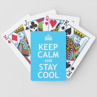 Guarde la calma y permanezca fresco baraja de cartas