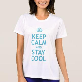 Guarde la calma y permanezca fresco poleras