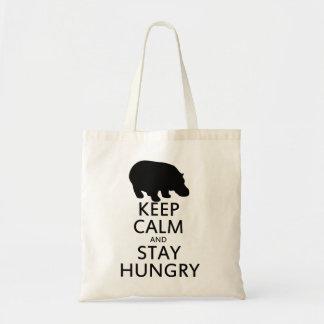 Guarde la calma y permanezca hambriento bolsa