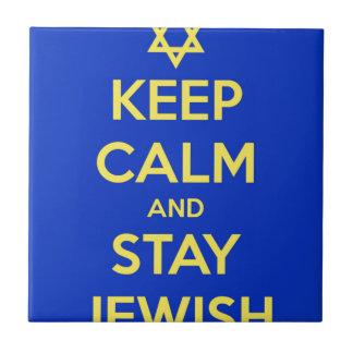Guarde la calma y permanezca judío azulejos