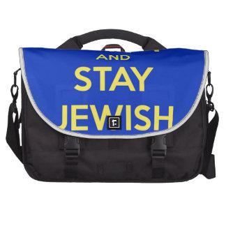 Guarde la calma y permanezca judío bolsas de ordenador