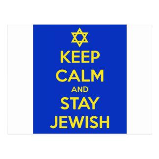 Guarde la calma y permanezca judío tarjetas postales