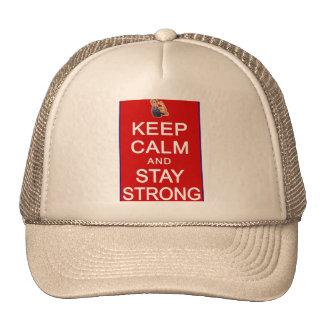 Guarde la calma y permanezca las derechas para muj gorras