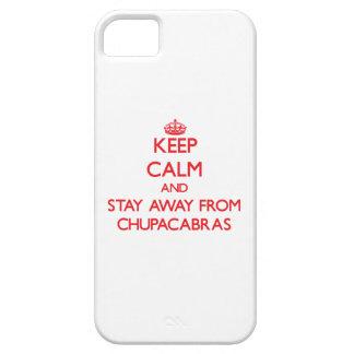 Guarde la calma y permanezca lejos de Chupacabras iPhone 5 Cárcasa
