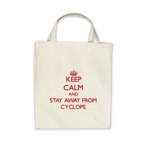 Guarde la calma y permanezca lejos de Cyclope Bolsa