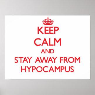 Guarde la calma y permanezca lejos de Hypocampus Impresiones