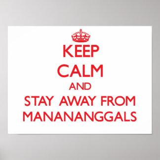 Guarde la calma y permanezca lejos de Manananggals Poster