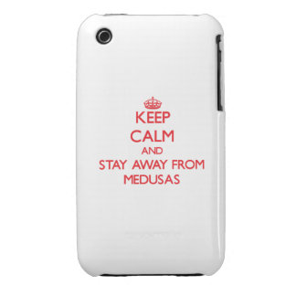 Guarde la calma y permanezca lejos de medusas iPhone 3 Case-Mate cobertura