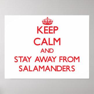 Guarde la calma y permanezca lejos de Salamanders Impresiones