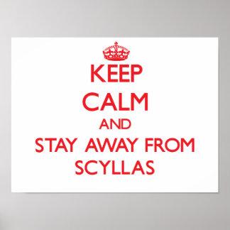 Guarde la calma y permanezca lejos de Scyllas Poster