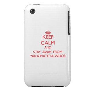 Guarde la calma y permanezca lejos de Yara-mA-yha- iPhone 3 Carcasa