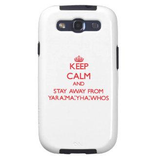 Guarde la calma y permanezca lejos de Yara-mA-yha- Samsung Galaxy S3 Fundas