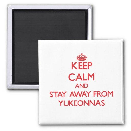Guarde la calma y permanezca lejos de Yuki-onnas Iman De Nevera