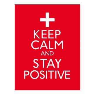 Guarde la calma y permanezca positivo postal