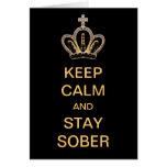 Guarde la calma y permanezca sobrio felicitacion