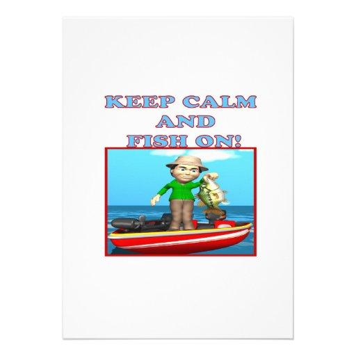Guarde la calma y pesque encendido comunicado personal