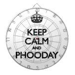 Guarde la calma y Phooday Tablero Dardos