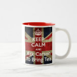 Guarde la calma y pida el té taza de café