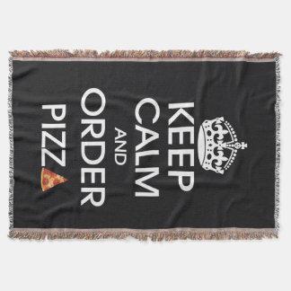 Guarde la calma y pida la pizza manta