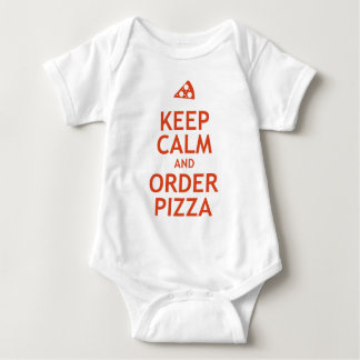 Guarde la calma y pida la pizza remera