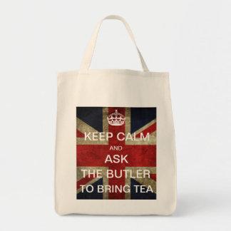 Guarde la calma y pida que el mayordomo traiga té bolsa
