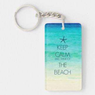 Guarde la calma y piense en el llavero de la playa