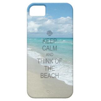 Guarde la calma y piense en la playa funda para iPhone SE/5/5s