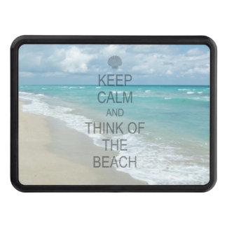Guarde la calma y piense en la playa tapas de tráiler