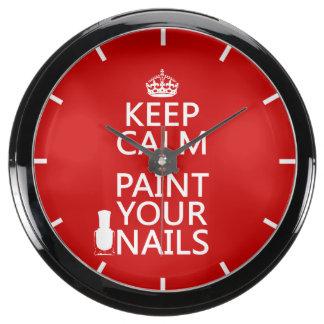 Guarde la calma y pinte sus clavos (todos los relojes aquavista