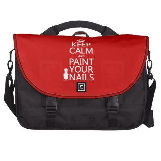 Guarde la calma y pinte sus clavos todos los colo bolsas para portátil