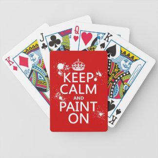 Guarde la calma y píntela en (en todos los barajas de cartas