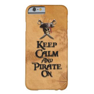 Guarde la calma y piratéela encendido funda de iPhone 6 barely there