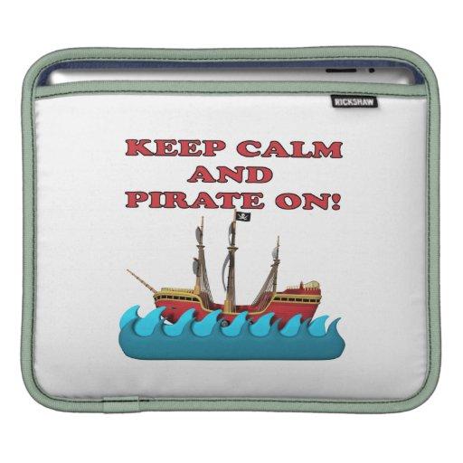 Guarde la calma y piratéela encendido manga de iPad