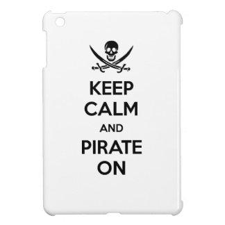 Guarde la calma y piratéela encendido iPad mini funda