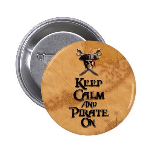 Guarde la calma y piratéela encendido pins