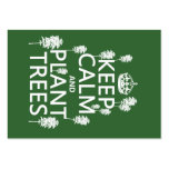 Guarde la calma y plante los árboles (todos los co plantillas de tarjetas de visita
