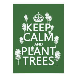 Guarde la calma y plante los árboles (todos los invitación