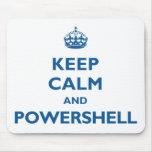 Guarde la calma y PowerShell Mousepad Alfombrilla De Raton