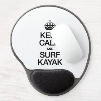 GUARDE LA CALMA Y PRACTIQUE SURF EL KAJAK ALFOMBRILLA DE RATON CON GEL