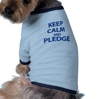 Guarde la calma y prometa camisetas de mascota