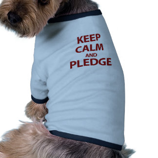 Guarde la calma y prometa camisa de perro