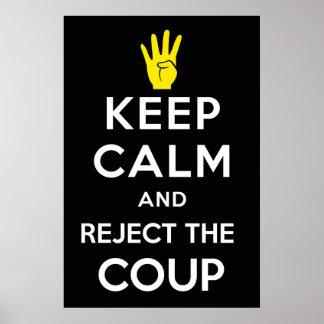 GUARDE LA CALMA y RECHACE el GOLPE, en EGIPTO. #An Póster