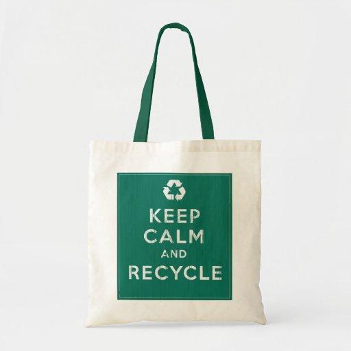 Guarde la calma y recíclela bolsas