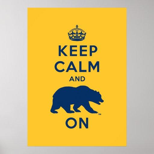 Guarde la calma y refiera - el azul posters